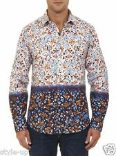 Robert Graham Floral Ombre Dyed Print L Large Tailored Fit Sport Shirt $248 NEW