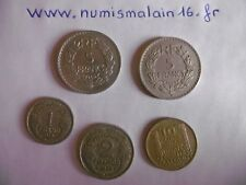 (A153)-FRANCE-LOT DE 5 PIECES ANNEE 1949 et 1949B