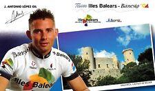 CYCLISME carte  cycliste J.ANTONIO LOPEZ GIL équipe ILES BALEARES BANESTO