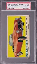 1961 Topps SPORTS CARS #9 MERCEDES - BENZ PSA 6 EX/MT 190 SL Convert GERMANY