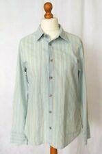 Men's Armani Sky Blue + Gold Shirt Long Sleeve Size L Pale Blue Designer VGC