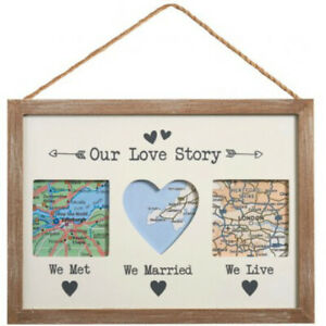 Our Love Story Picture Frame 30cm Ladies Anniversary Christmas Gifts Presents