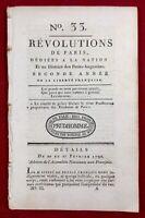Papiers de la Bastille 1790 Loi Martiale Favras Ohio USA Révolution Française