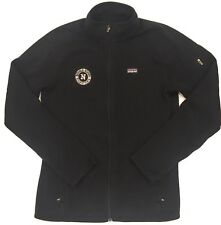 Patagonia Better Sweater Black Fleece Jacket Women's M Full Zip Coat School Logo