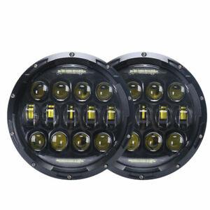7Inch 75W Round LED Headlight with DRL for Lada 4x4 urban Niva Suzuki Samurai