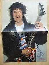 Gary Moore autographe signed poster 28x41 cm pliée