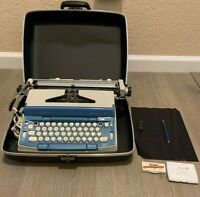 VTG JCPenny Electric Concord 12 Portable Typewriter W/Case, Brush/Correct Tape!