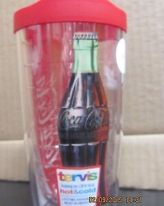 Coca-Cola Tervis 24 oz Tumbler with Lid /Coke Bottle- NEW-FREE SHIPPING