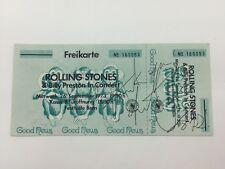 RARE Charlie Watts Rolling Stones Signed Replica Ticket + COA AUTOGRAPH