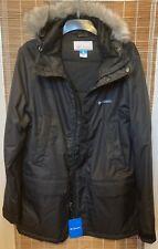Columbia Hooded  Removable Fur Coat Parka Jacket Grey L New RRP £180.00