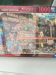 """A 2021 Ravensburger 1000 piece Aimee Stewart's """"Family vacation"""" MINT/PRISTINE"""