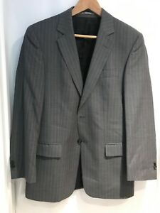 """STONES Collection Men's Grey Pin Stripe Casual Suit Jacket Regular Fit Chest 42"""""""