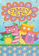 "Owl Bumble Bee Daisy Flower House Flag Large 40"" x 28"""