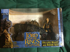 Lord Of The Rings Two Towers Sharku With Warg Beast Deluxe Beast And Rider Set