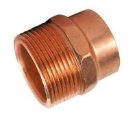 """(Bag of 25) 1/2"""" Copper Male Adapter Sweat Solder Joint C x MIP"""
