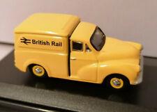 """1/76 Oxford diecast OO Railway scale Morris Minor Van in """"British Rail Yellow"""""""