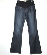 PAIGE Maternity Laurel Canyon Low Rise Boot Cut Blue Denim Stretch Jeans Size 28