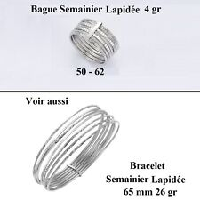 Dolly-Bijoux Bague Rhodié T56 Semainier Sculpté Diamantée Argent Massif 925