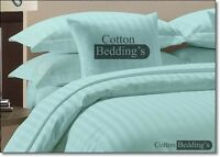 1000 TC UK Size 100% Egyptian Cotton 2pc Pillow Cases in Solid & Striped
