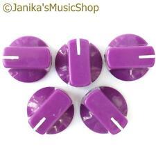 5 purple potentiometer switch knobs guitar  amplifier etc stove pot knob + screw