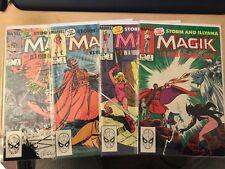 MAGIK # 1 - 4 Limited Series Set 1st Print 1983 Bronze Age X-Men SALE .99
