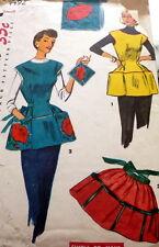 LOVELY VTG 1950s POPPY APRON & POTHOLDER Sewing Pattern MEDIUM