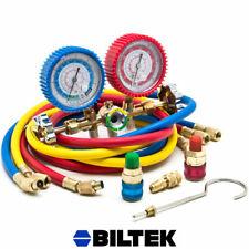 Dual Gauge Ac Diagnostic Manifold Tester Set Hvac R12 R22 R502 Charging Kit