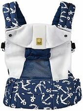 Lillebaby Complete Airflow 6 in 1 Mesh Position Baby Carrier Navy Blue Anchors