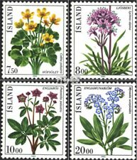 Iceland 592-595 (complete issue) unmounted mint / never hinged 1983 Flowers
