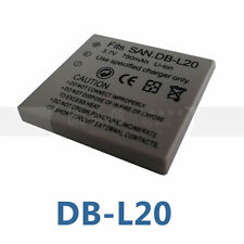 Camera Battery For Sanyo DB-L20 DB-L20A DB-L20AU Xacti DMX-C1 DSC-J4 750mAh