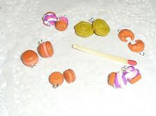 Lot 12 Breloques Fimo macarons cupcake croissant fabrication bijoux scrapbooking