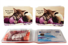 Exotic Rail Bus Travel Business Credit ID Slim Wallet Holder for Oyster Card Lot Cat and Dog