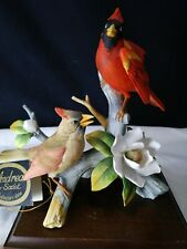 Andrea By Sadek Porcelain Cardinal Bird Figurine #6229 With Tags ~Free Shipping