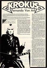 Krokus Fernando Von Arb UK Guitarist Interview Clipping