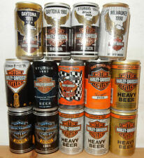 14 HARLEY DAVIDSON Beer cans from U.S. ( 350ml) 1984 - 1999