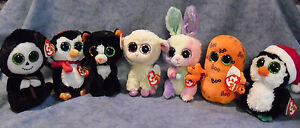 W-F-L TY Beanie Boos Glubschi Easter Halloween Christmas Selection Stuffed Toy