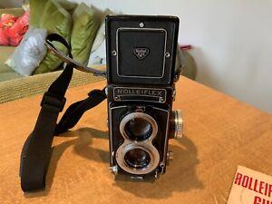 Rolleiflex T 3 , TLR. Zeiss Tessar 70mm F3.5 Vintage Camera + Accessories