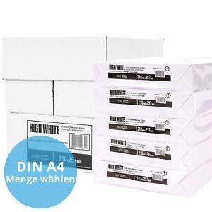 Premium Kopierpapier DIN A4 500 - 2500 Hochweiß Copy Papier Laser Druckerpapier