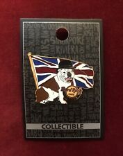Hard Rock Cafe London Pin Limited Edition (CORE Bulldog With Flag LON)