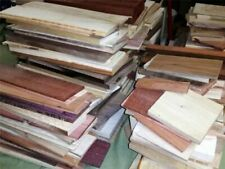"""24"""" Long Box of Thin Unfinished Craft Wood. Many Species Scroll Saw Lumber"""