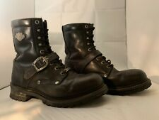 Harley Davidson Faded Glory Men's Size 9.5  Black Leather Motorcycle Boots