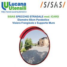 SISAS SPECCHIO STRADALE Diametro 60cm modello ICARO Parabolico Visiera Supporto