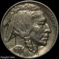 1937 Indian Head Buffalo Nickel ~ VF Very Fine ~ US Coin MQ