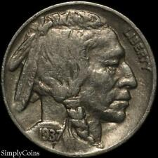 1937 Indian Head Buffalo Nickel ~ VF Very Fine ~ US Coin