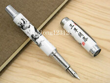 Jinhao Blue And White Porcelain Three Sheep Painting Ceramic Fountain Pen