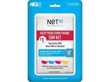 Net10 Keep Your Own Phone SIM Activation Kit (Triple Punch)