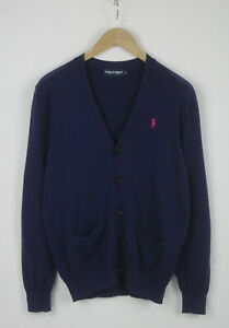 RALPH LAUREN POLO GOLF Men S Cashmere Blend Dark Blue / Indigo Cardigan 25039_JS