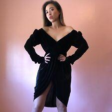 Vintage Rare Norma Kamali Ruched Velvet Dress