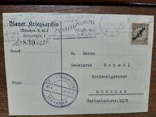 München Kriegsarchiv Bayern 1926  Postkarte