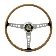 New! 1964-1973 Ford MUSTANG Shelby GT350 Woodgrain Steering Wheel with Center